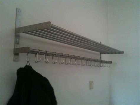 wall mounted coat rack with shelf ikea grundtal coathanger ikea hackers ikea hackers
