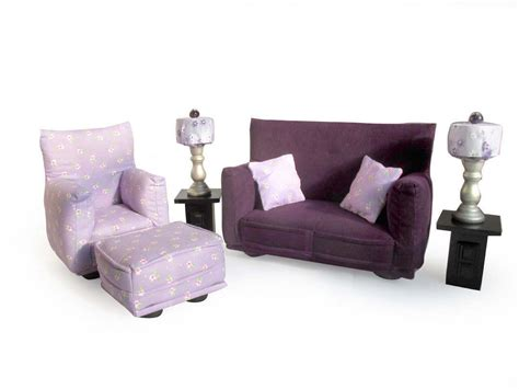 barbie doll living room furniture 9 pc play set 1 6 scale
