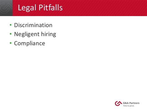 Background Check Unable To Verify Employment G A Partners Webinar Pitfalls To Avoid During The
