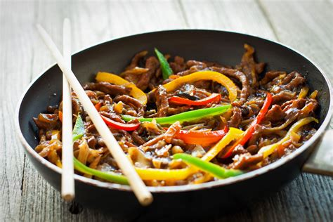 Black And Red Kitchen Ideas by Chinese Beef And Peppers In Black Bean Sauce Recipe