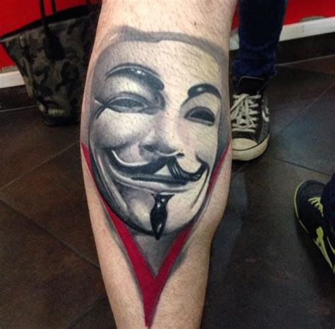 anonymous mask tattoo remember the 5th of november with these fawkes mask