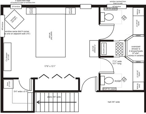 Floor Plans For Bedroom With Ensuite Bathroom | master bedroom addition floor plans his her ensuite