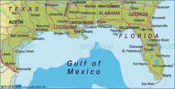 map of gulf coast united states map in the atlas of
