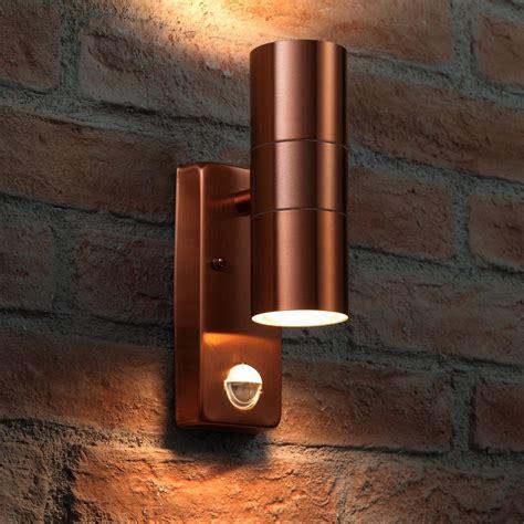 Outdoor Sensor Wall Lights Auraglow Pir Motion Sensor Stainless Steel Up Outdoor Wall Security Light Warminster