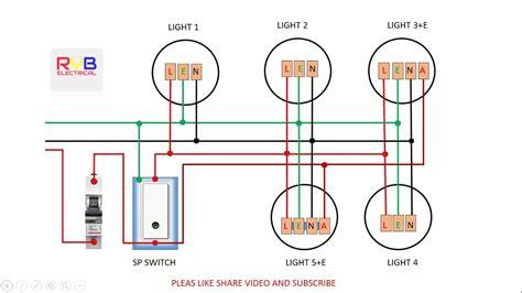 emergency light switch wiring diagram youtube