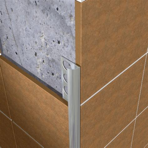 tile edging tile trim metal brushed eaq 10mm emctiles