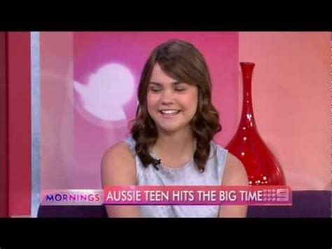 why does mia mitchell have a scar on her forehead maia mitchell in disney s teen beach musical interview