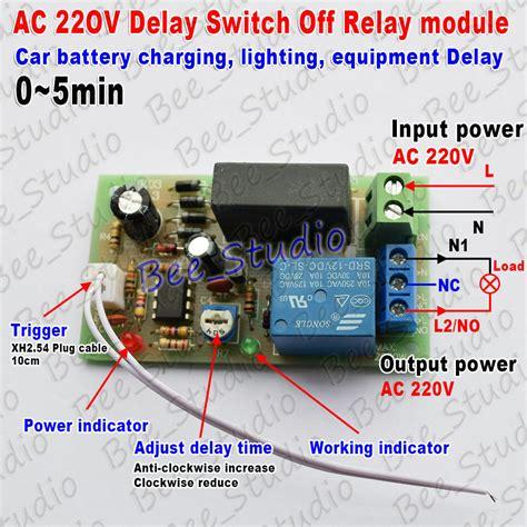 ac    trigger delay timer switch turn  board timing relay module ebay