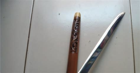 Pisau Tongkat Ukir Wayang Jbld2226 tongkat pisau ular cobra js 53 jawara sae etnic