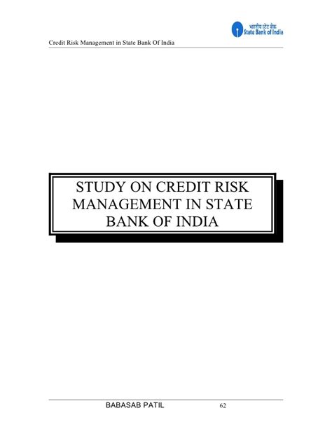 Mba Finance Project On Credit Appraisal by Credit Risk Management In Canara Bank Reportspdf819 Web