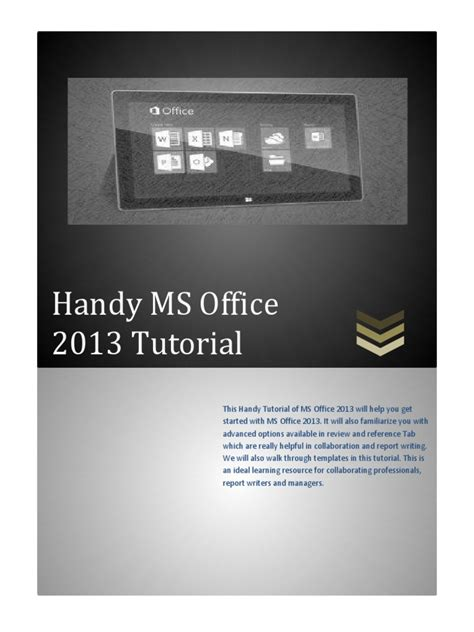 tutorial microsoft excel 2013 pdf 04 handy ms office 2013 tutorial microsoft word