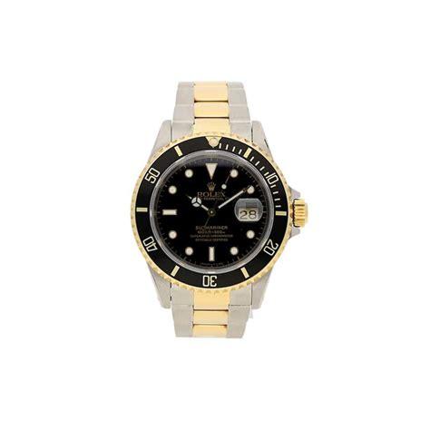 rolex submariner 16613 steel and gold black 1995