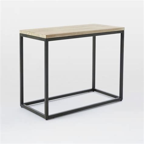 Narrow Side Table Box Frame Narrow Side Table Whitewashed Mango