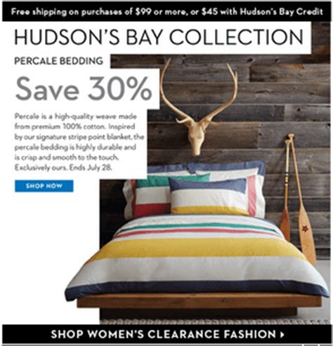 Hudson S Bay Canada Offers - hudson s bay offers get 30 selected bedding