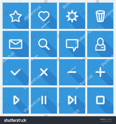 ui design elements vector flat ui design elements set of basic web icons in blue