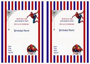 spiderman birthday invitations birthday printable