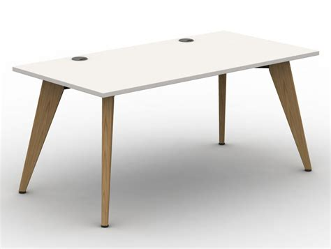 white desk with wooden legs pyramid 8 seater desk pod with wooden legs