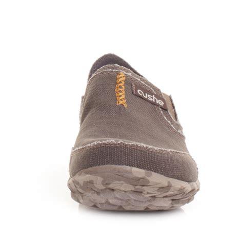 cushe slipper brown canvas lightweight outdoor casual slip