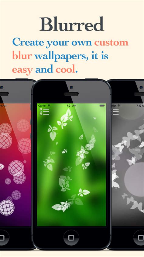 design your own home app for ipad blurred lite create your own custom blur wallpapers
