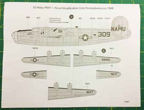 Minicraft Pb4y 1 Usn With 2 Marking Options Model Kit 1144 Scale review pb4y 1 usn quot calvert and coke quot with two options ipms usa reviews