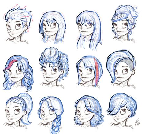 koi pond thediabeticspoon drawing realistic and stylish hairstyles drawing reference reference hairstyle female by