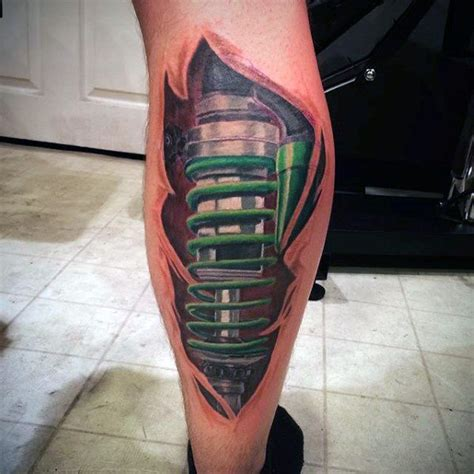 shock tattoo 50 suspension designs for shock absorber ideas