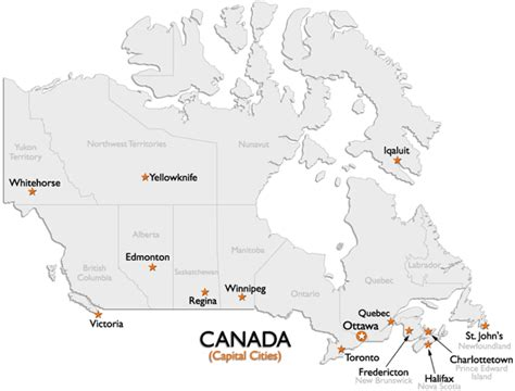 map of canada with all cities canada capital cities map worldatlas