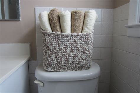 towel storage basket large bin for bathroom toiletries