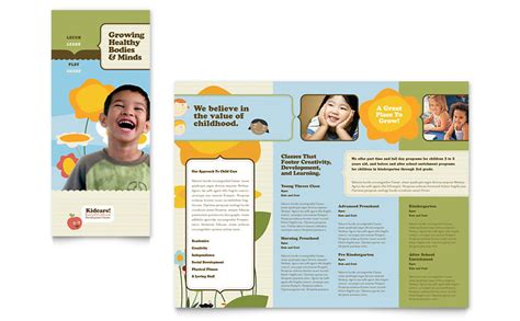 Child Development School Tri Fold Brochure Template Word Publisher Free Pediatric Brochure Templates