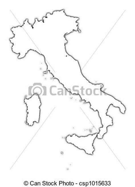 Dessins de carte, italie, contour - Italy, contour, carte