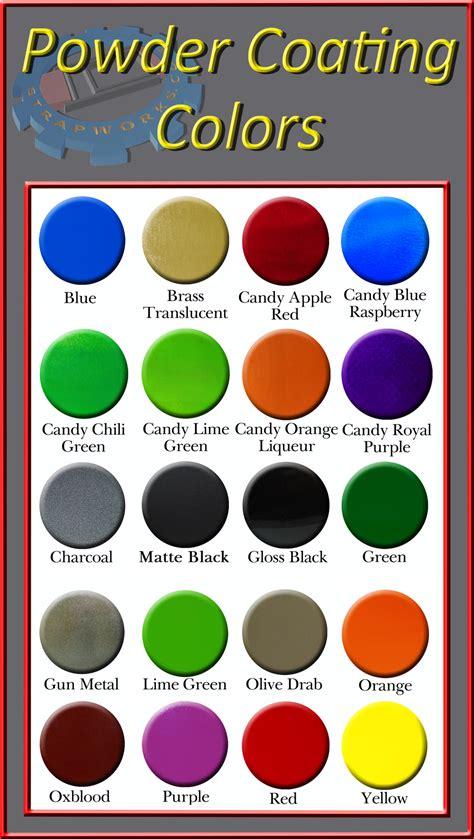 powder coating colors powder coating metal hardware colors strapworks