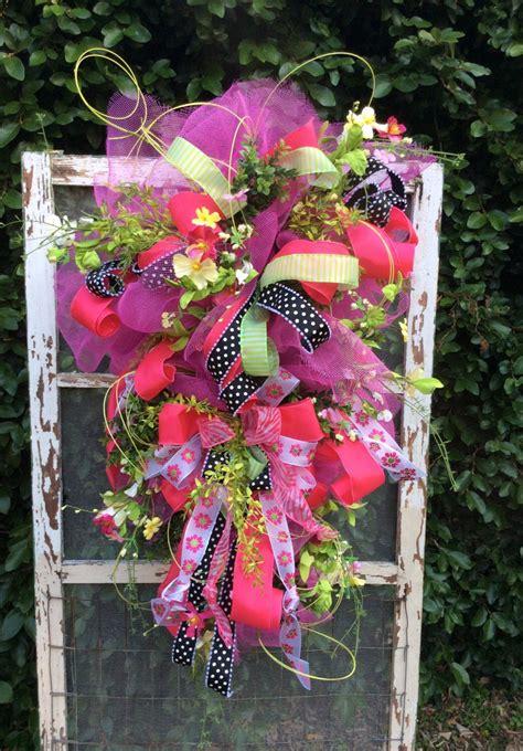 spring wreath spring door swagdoor swag front door