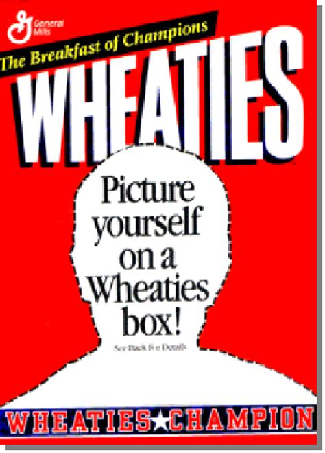 wheaties box template peele s triathlon wheaties sponsorship breakfast of