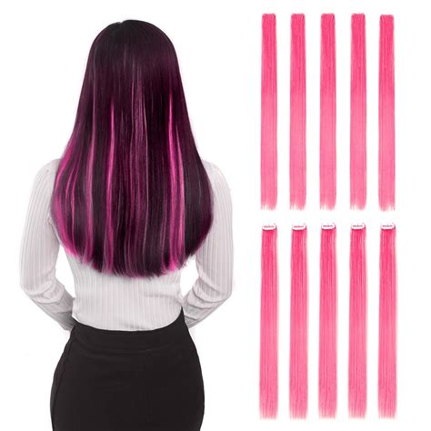 colored extensions colored clip in hair extensions 22 quot 10pcs