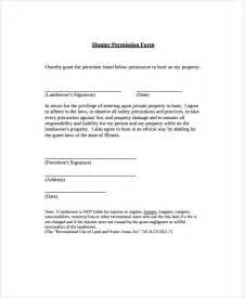 permission form template sle permission form template 9 free documents