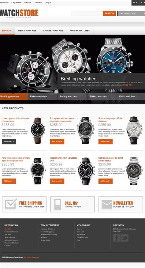 responsive watch store magento theme 44555 by wt