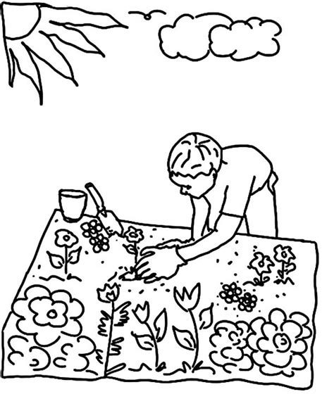 my garden coloring pages my garden gardening tools coloring pages color luna