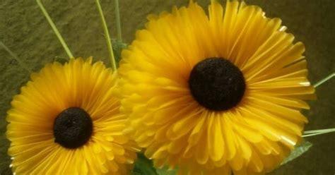 membuat kolase matahari cara membuat bunga matahari yang cantik dari sedotan plastik