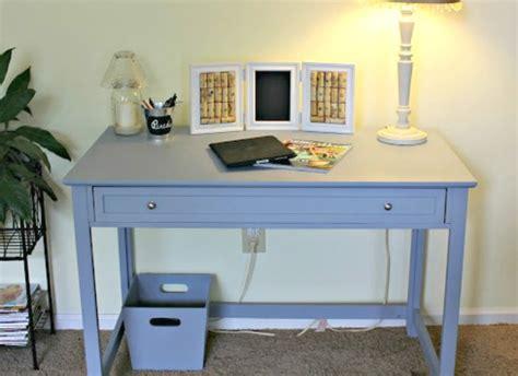 blue desk l remodelaholic small desk turned large workspace