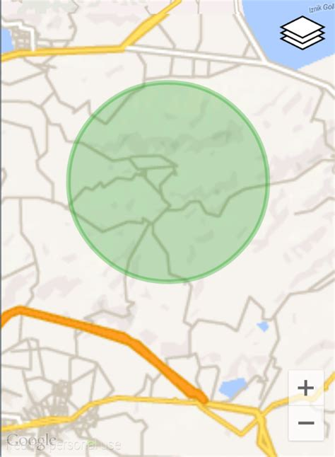 zoom relativelayout google maps draw a circle geofence with preview in