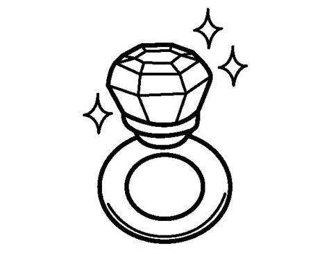 Diamond Ring Coloring Page Coloringcrew Com Ring Coloring Pages