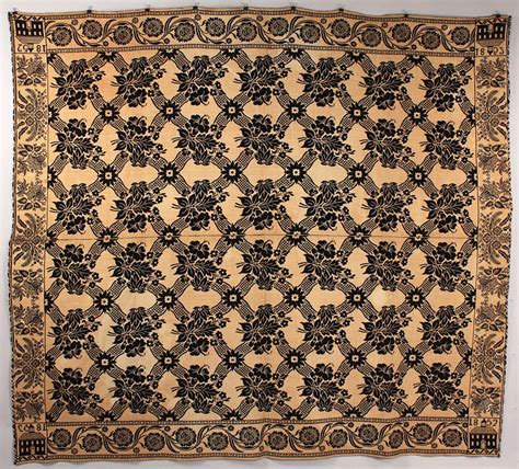 jacquard coverlet lot 632 indiana jacquard coverlet craig family