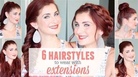 how to wear extension for bobcut 6 hairstyles to wear with extensions youtube