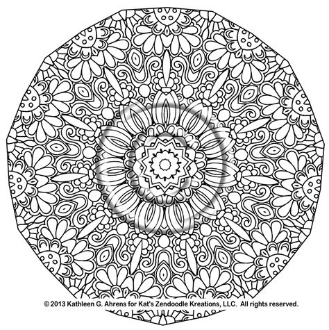 printable complex coloring pages complex mandala coloring