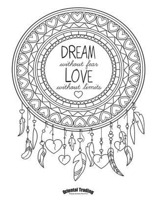 hair dreams coloring book for adults books dreamcatcher coloring page 320 215 414 coloring