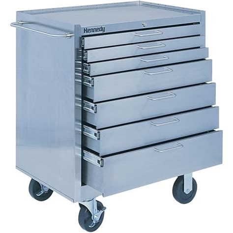 stainless steel rolling cabinet kennedy 28087 7 drawer stainless steel rolling cabinet
