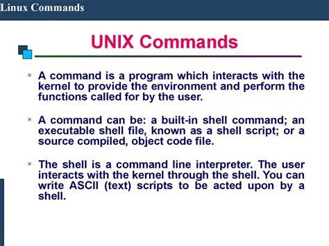 unix tutorial powerpoint linux commands презентация онлайн