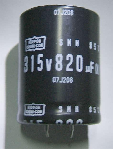 capacitor nippon chemicon nippon chemi con smh series 820uf 315v snap in cap