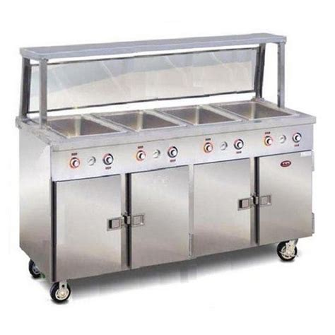 countertop steam table food warming equipment steam table 4 pan portable with