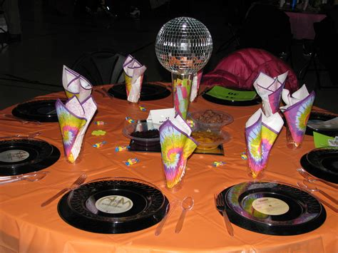 disco centerpieces disco centerpieces and tie dye napkins